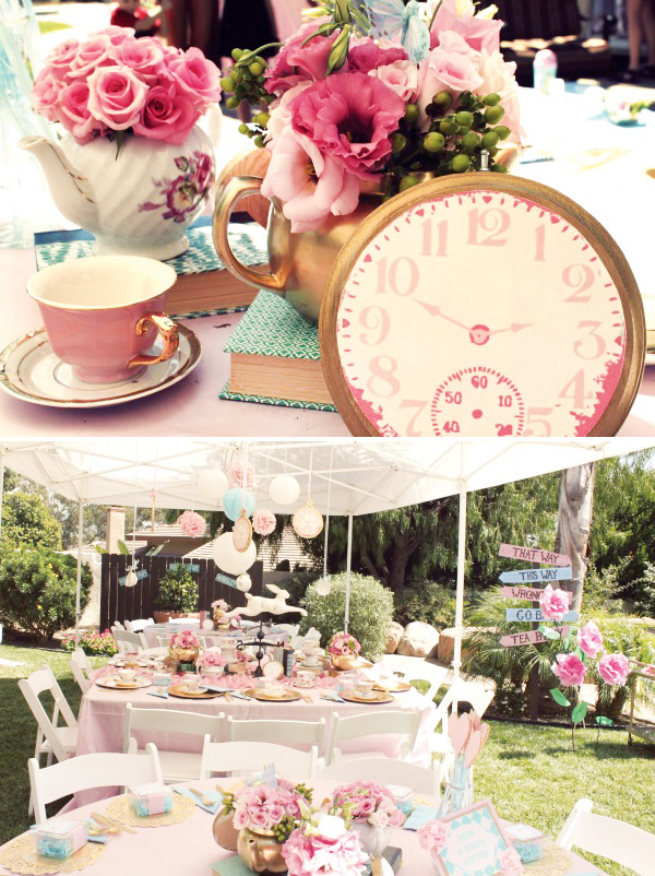 Vintage style alice in wonderland the party connection - Alice in wonderland tea party decorations ...