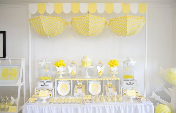 Yellow And White Baby Shower