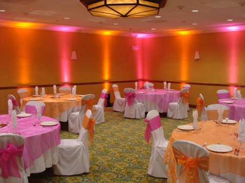 Orange-and-Pink-Wedding-Decorations