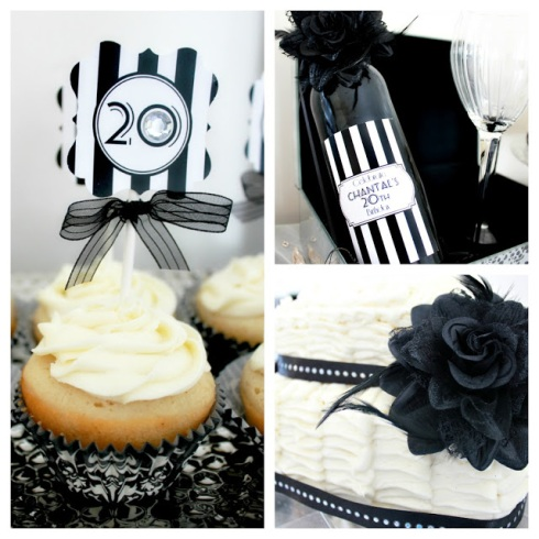 20s theme birthday party_black_white_glam birthday