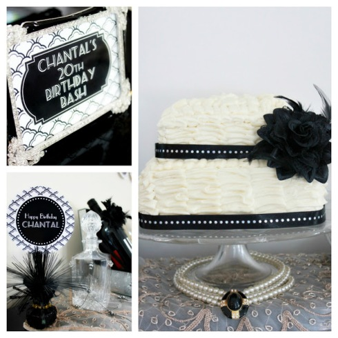 20s theme birthday party_black_white_glam birthday2
