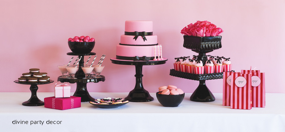 Birthday Decorations Pink And Black Image Inspiration of Cake and