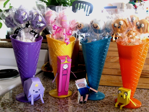 Adventure Time cake Pops