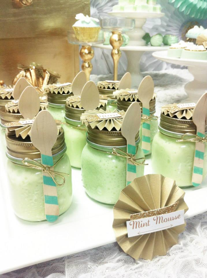 Mint Green and Gold Themed Parties | The Party Connection ...
