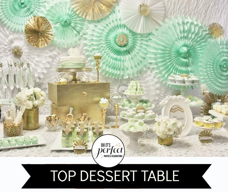 Mint Green And Gold Themed Parties The Party Connection