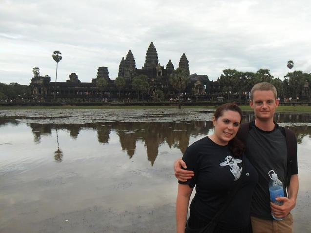 Byron Carr and Courtney Lewis in Cambodia