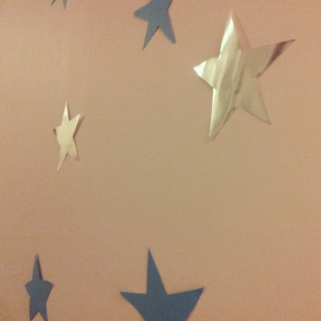 Stars in my eyes and stars on my wall
