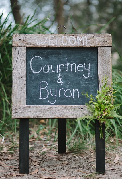 Courtney and Byron Welcome Sign