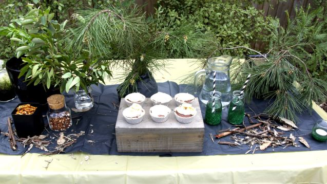 Midnight in the Garden Dessert Table