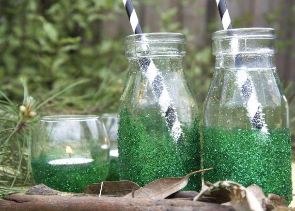 Mossy Glitter Jars