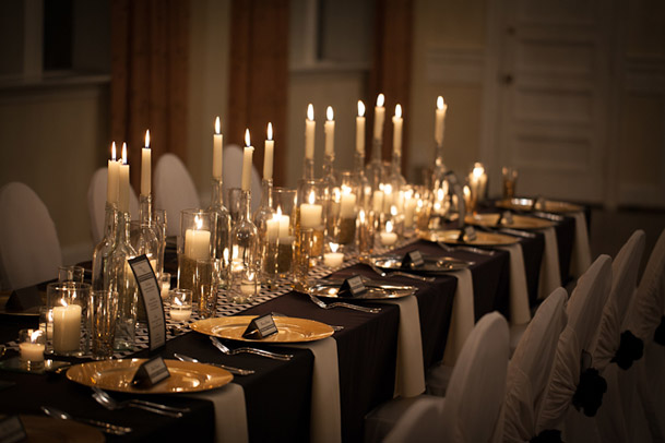 Gold And Black Wedding Ideas: The Party Connection